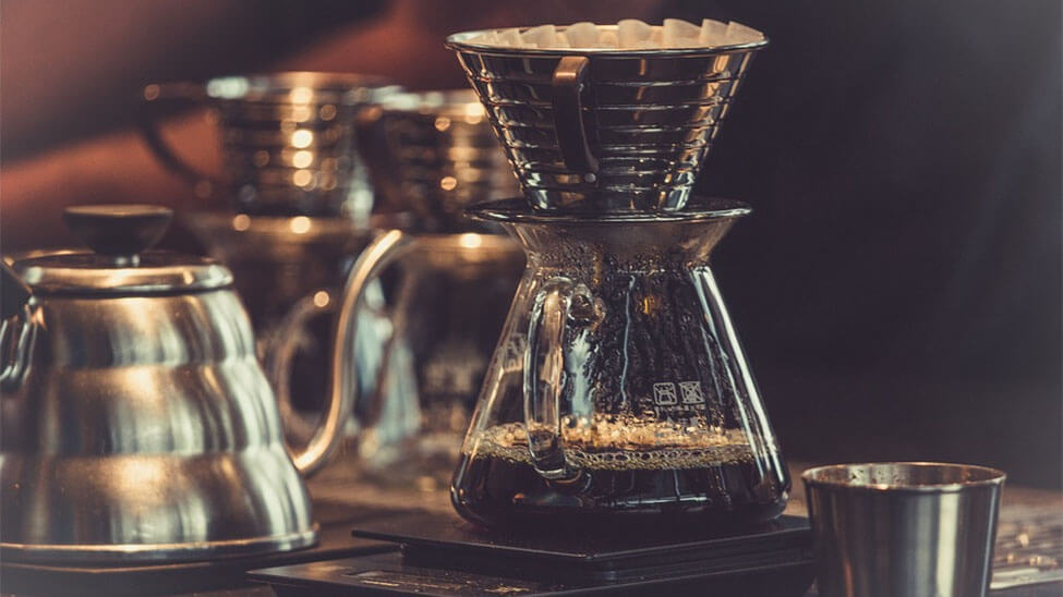 Kaffee in Kaffeemaschine