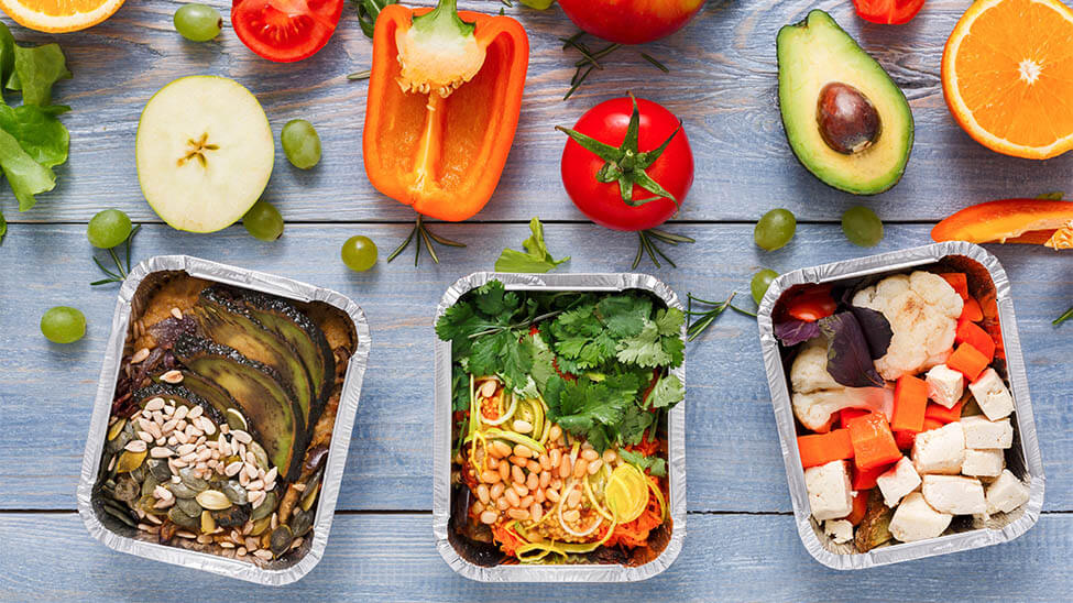 3 Meal Prep Varianten mit den Zutaten