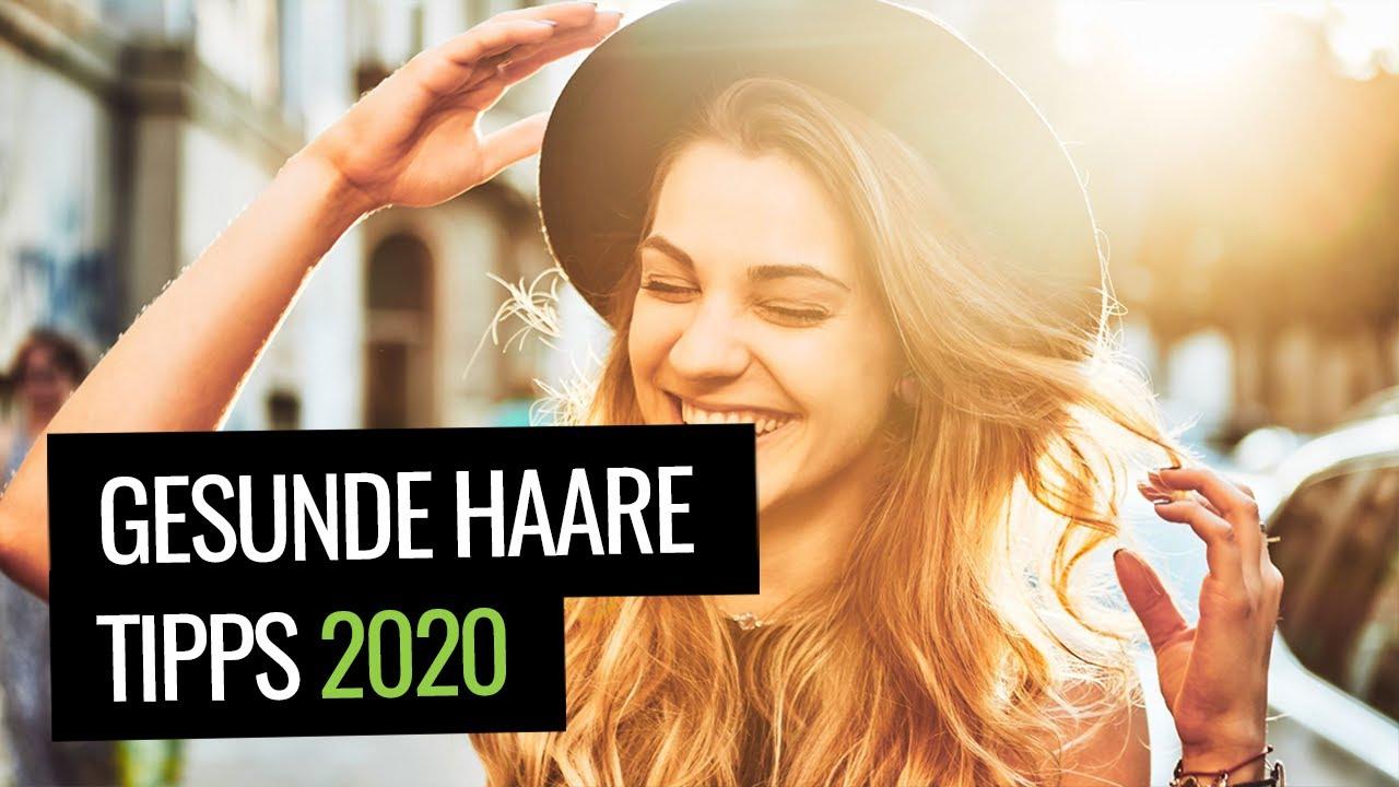 Frau mit schönen Haaren - Gesunde Haare Tipps 2020