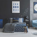 Sternenhimmel an der Wand als Deko Aufkleber im Schlafzimmer