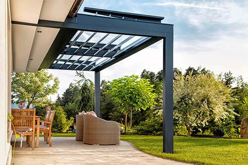 Terrassenüberdachung Relaxdach Lamellen