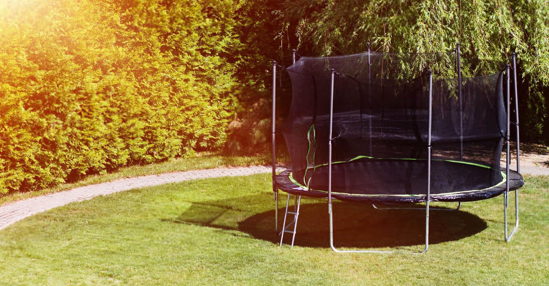 Trampolin für Zuhause im Garten