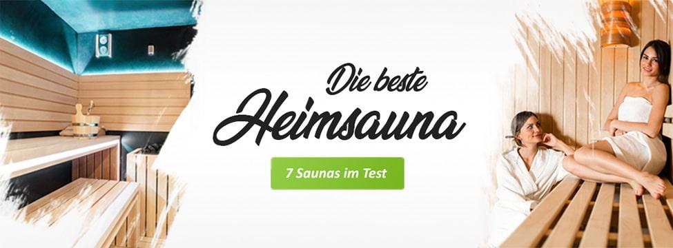 Die besten Saunas für Zuhause im Test - Banner