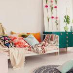 Wohnzimmer mit Boho Deko Einrichtung