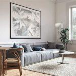 Wohnzimmer eingerichtet in Skandinavischem Wohnstil