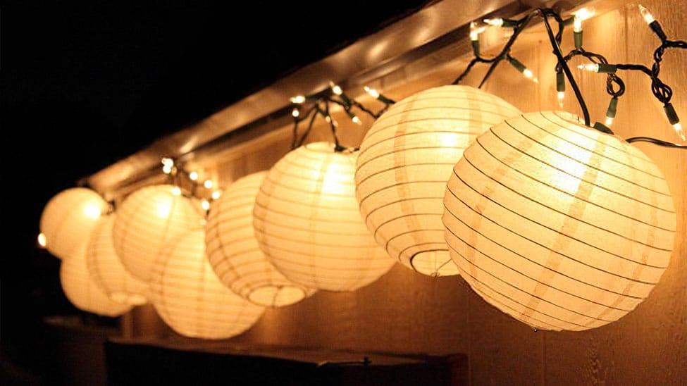 Solar-Lichterkette mit Lampions