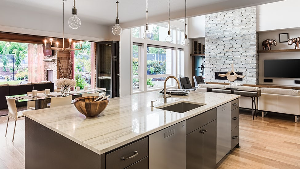 Moderne offene Küche