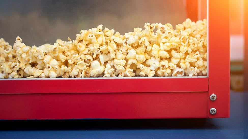 Popcornmaschine Nahaufnahme