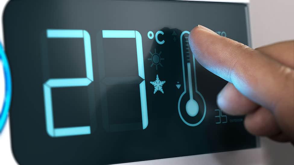 Smarte Klimaanlage mit Temperaturregler