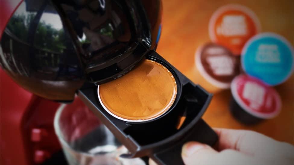 Kaffeemaschine mit Kaffeekapseln
