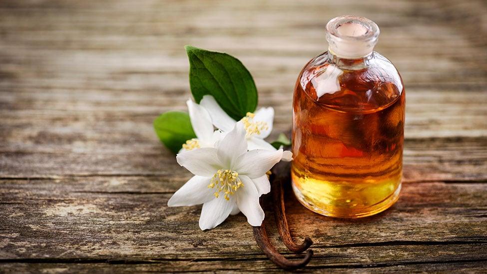 Massageöl mit Blume