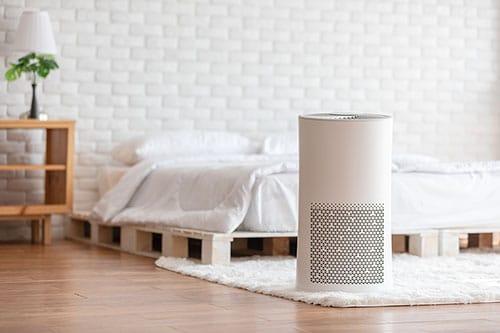 Luftentfeuchter in Schlafzimmer