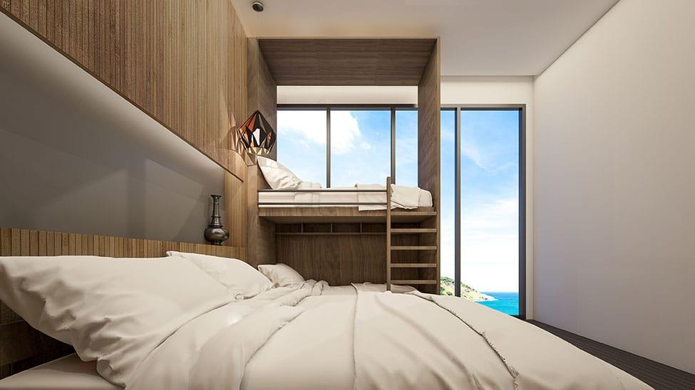 Hochbett für Erwachsene mit Meerblick