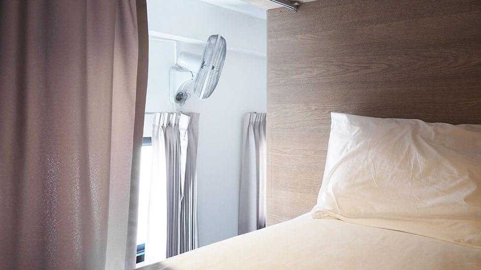 Hochbett für Erwachsene mit Ventilator