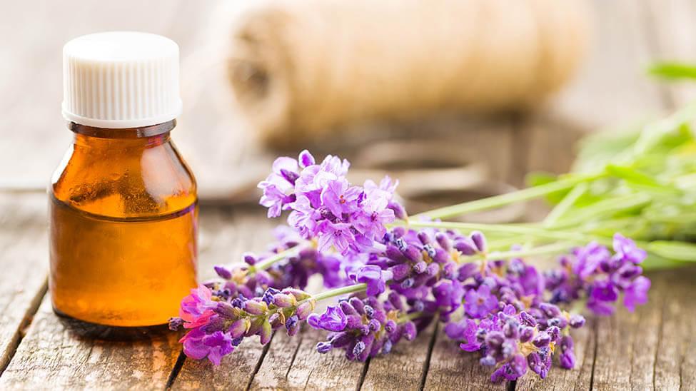 Lavendelöl in kleinem Fläschchen