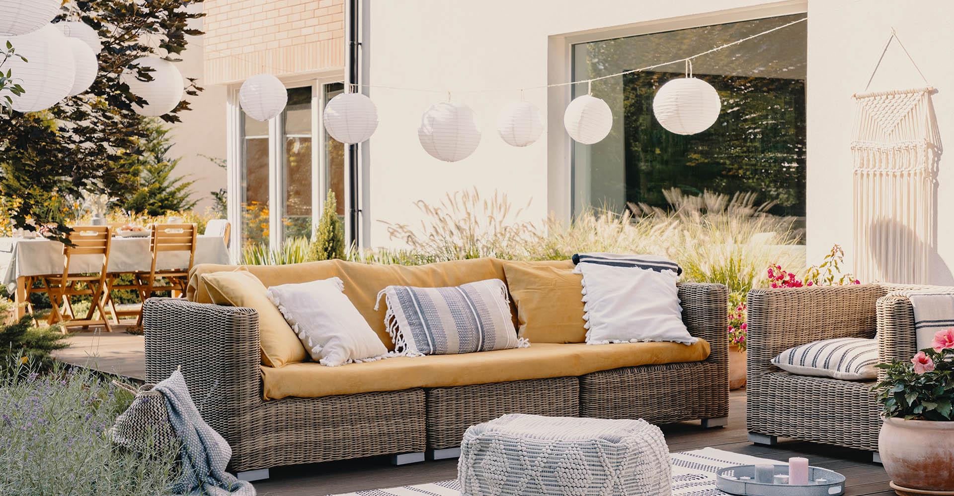 Solar Lichterkette im Garten