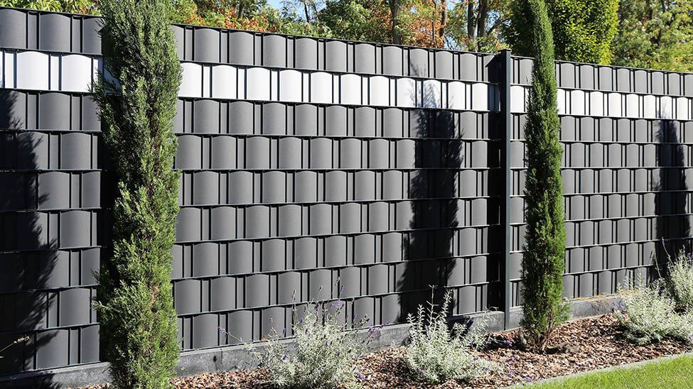 Geflochtener Sichtschutz für Garten