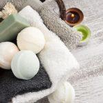 Badekugeln mit anderen Pflegemitteln