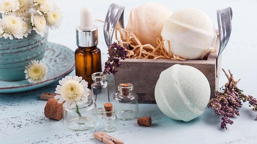 Badekugeln und andere Wellnessprodukte