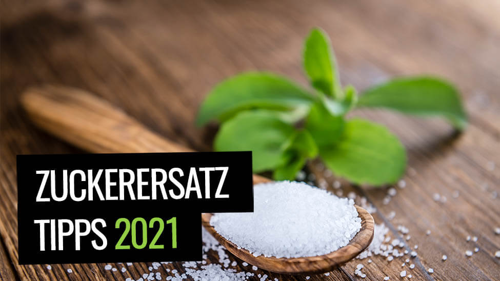 Löffel mit Stevia als Zuckerersatz