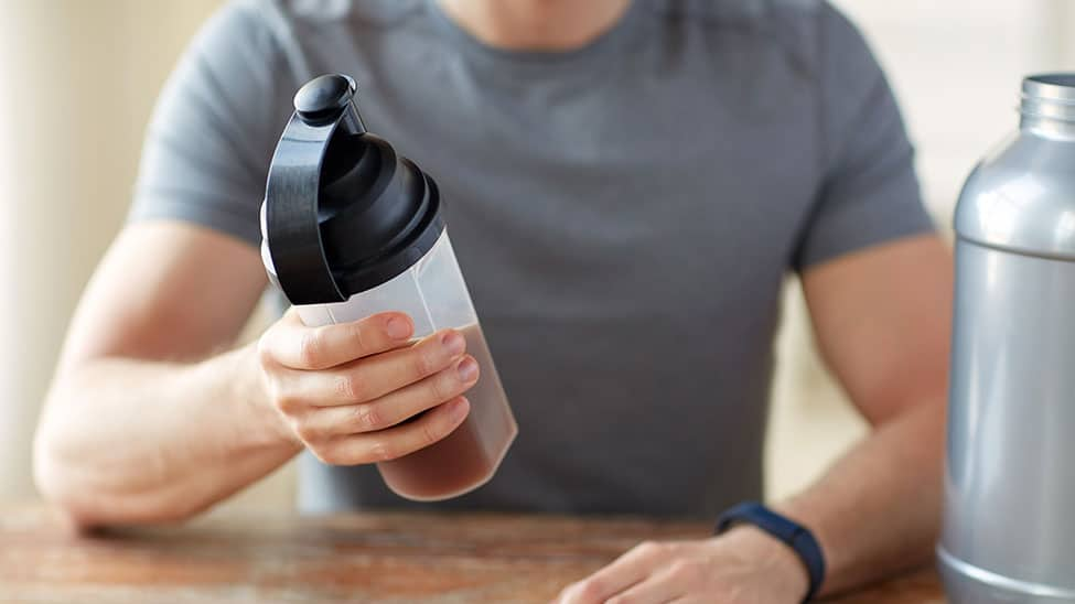 Workout Booster in Protein Shake Flasche